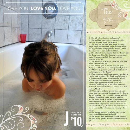 Bathtime - digital 12x12