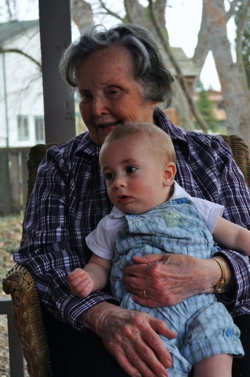 Easter - Little Man and Great Grammy