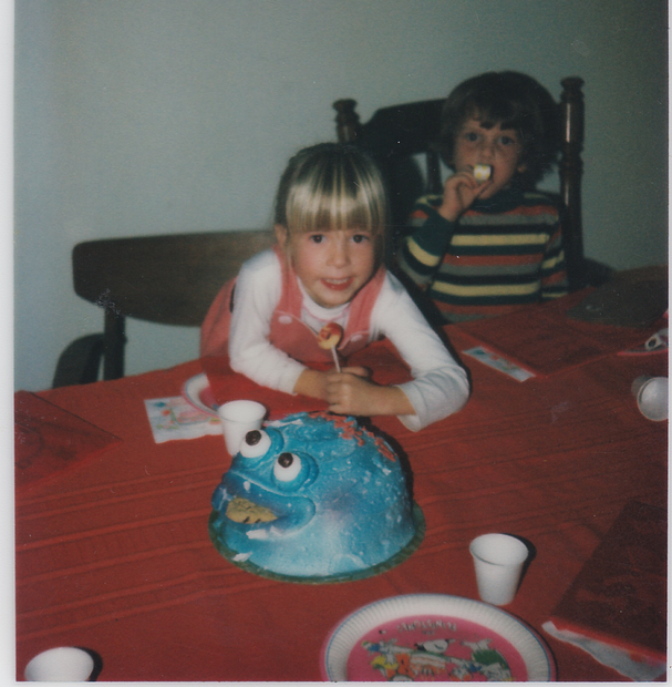 Cat Cookie Monster Cake maybe 1981