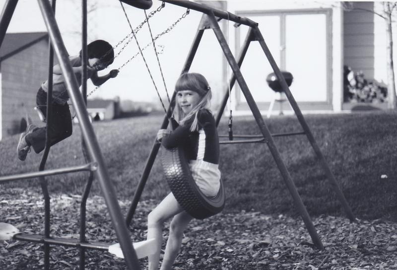 Cat Swingset w Emily 1982